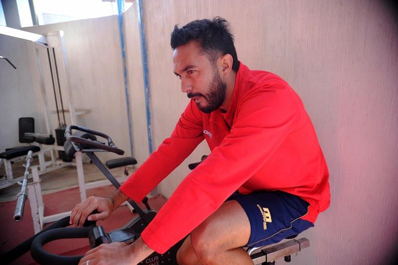 Carlos Kamiani Félix no jugará contra Marquense por una infección en la garganta. (Foto Prensa Libre: Edwin Fajardo)