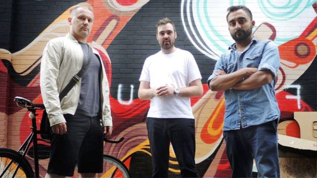 De izquierda a derecha, los fundadores de TrueView Damian Mitchell, Andrew Ibbotson y Matt Verity. TRUEVIEW