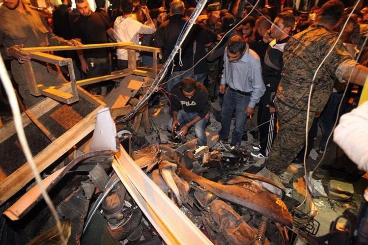 El EI se atribuyó este jueves el atentado de Beirut. (Foto Prensa Libre: AFP).