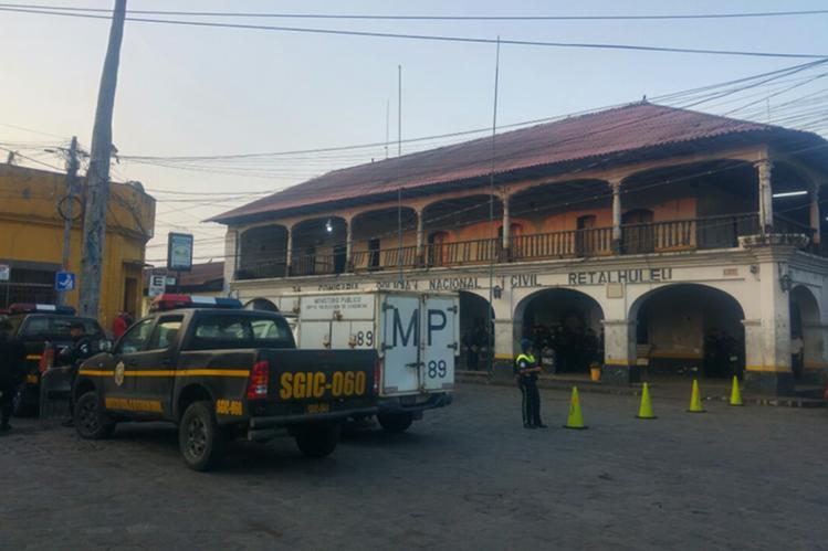 Cárcel de Retalhuleu, donde este miércoles se efectúa una requisa. (Foto Prensa Libre: Rolando Miranda)