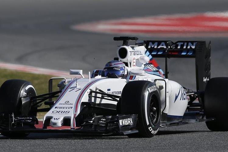 El piloto de Williams, Valtteri Bottas, encabezó el miércoles las pruebas de pretemporada de la Fórmula Uno. (Foto Prensa Libre: AP)