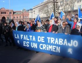 Hebe de Bonafini lidera serie de protestas en Argentina. (Foto tomada del sitio: www.madres.org).