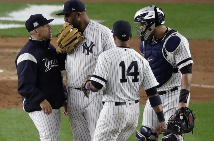 El lanzador CC Sabathia ayudó con el triunfo en favor de los Yanquis. (Foto Prensa Libre: AP)