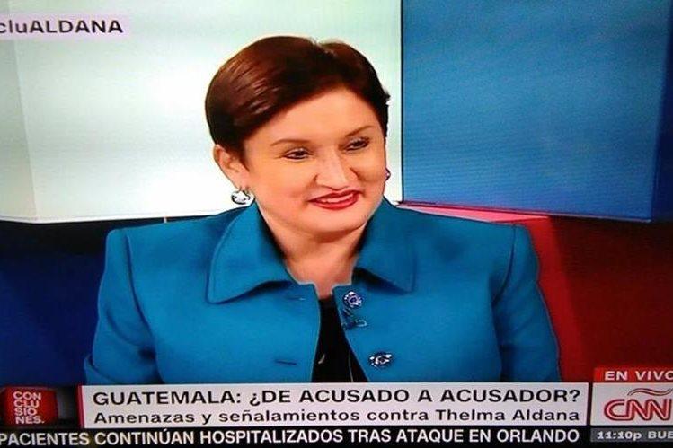 Fiscal General y jefa del Ministerio Público Thelma Aldana dijo que grupos del crimen organizado planean atentar con su vida. (Foto Prensa Libre)