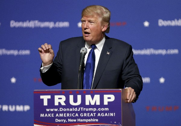 <em>Donald Trump,precandidato republicano a la Presidencia 2016.</em>