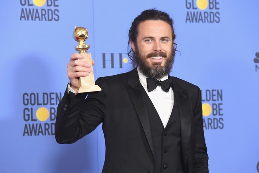 Casey Affleck ganó como mejor actor de drama por  Manchester by the Sea. (Foto Prensa Libre: AFP)