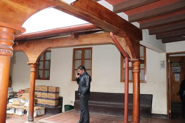 La audiencia se llevó a cabo a puerta cerrada en el Juzgado de Nebaj. (Foto Prensa Libre: Héctor Cordero)