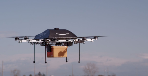 Los drones transportaron mercancías como botellas de vino o cartones de leche.(EFE).