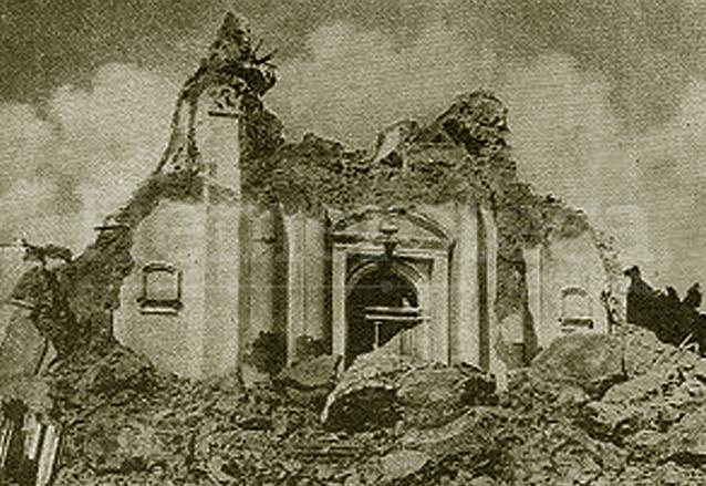 El Templo de la Recolección fue destruido por la fuerza de la tierra. (Foto: Hemeroteca PL)