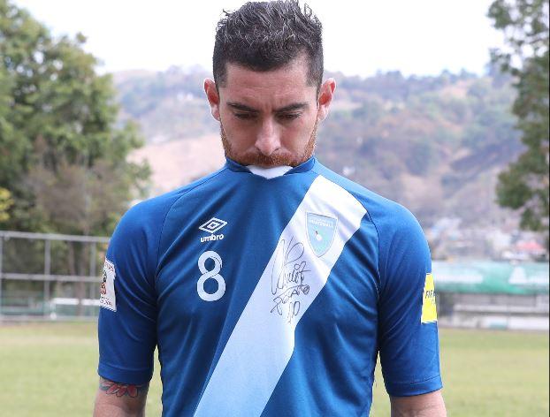 Jean Márquez, jugador de la Selección de Guatemala. (Foto Prensa Libre: Francisco Sánchez).