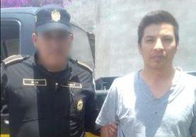 Keyner Gómez fue detenido por las autoridades en Quiché. (Foto Prensa Libre: Héctor Cordero)