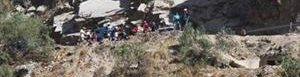 Lugar del accidente en Perú.