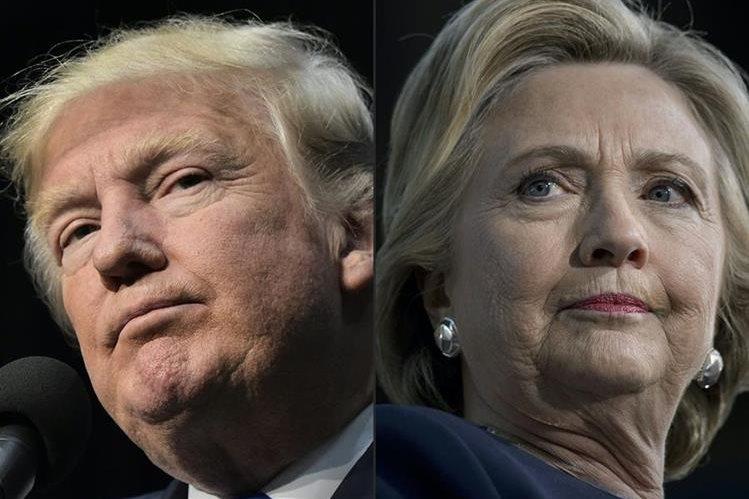 Donald Trump y Hillary Clinton se disputan la Presidencia de EE. UU. este martes. (Foto Prensa Libre: AFP).