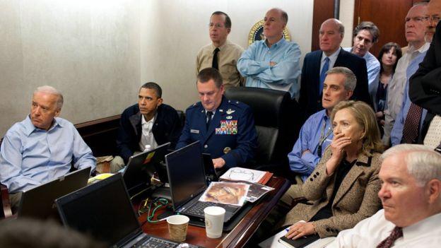 Obama anunció en el 2011 la muerte de Osama bin Laden, quien fuera el cerebro de los ataques a las Torres Gemelas de Nueva York en el 2001. (THE WHITE HOUSE).