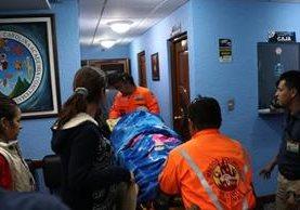 La diputada Lucrecia Samayoa es ingresada en un hospital privado en la cabecera de Huehuetenango. (Foto Prensa Libre: Mike Castillo)