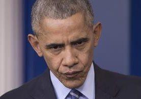 El presidente de EE. UU., Barack Obama, durante su última conferencia de prensa del 2016. (Foto Prensa Libre: EFE).
