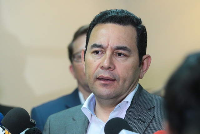 Jimmy Morales espera contar con el apoyo del Congreso de la República. (Foto Prensa Libre: Hemeroteca PL)