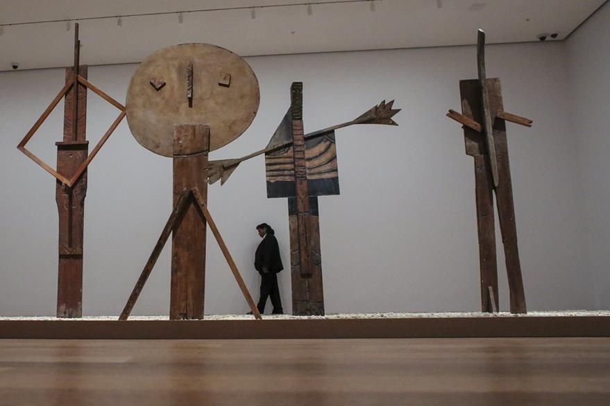 """""""Picasso Sculpture"""" incluye más de 140 esculturas en préstamo de colecciones privadas y públicas. (Foto Prensa Libre: AFP)"""