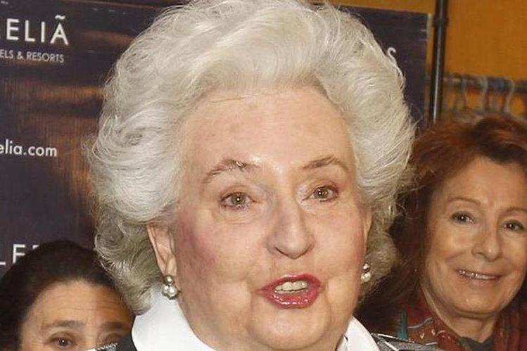 Pilar de Borbón, tía del actual monarca de España, Felipe VI.