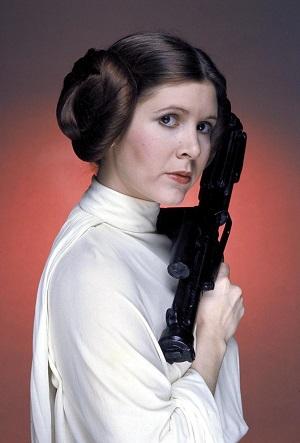 Fisher en el papel de Princesa Leia. (Foto: Hemeroteca PL).