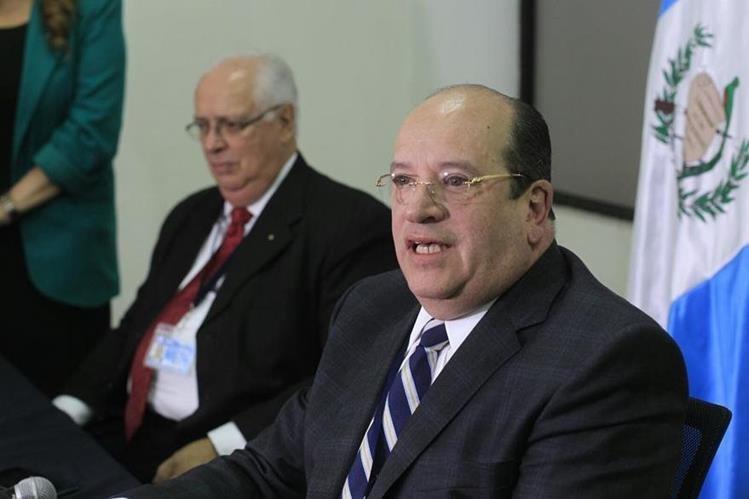 José Moreno durante una conferencia de prensa en enero de 2016. (Foto Prensa Libre: Hemeroteca PL).
