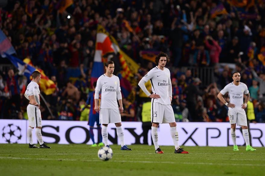 El PSG decepcionó y quedó eliminado de la Champions League. (Foto Prensa Libre: AFP)