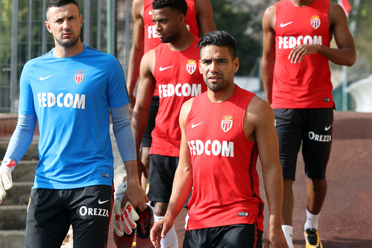 Radamel Falcao se encuentra en la pretemporada del Mónaco de la Liga francesa. (Foto Prensa Libre: AFP)