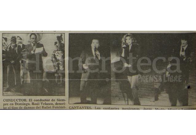 Raúl Velasco, Jorge Muñiz, Mimí y Laureano Brizuela durante la grabación del programa Siempre en Domingo grabado en Guatemala el 15/1/1992. (Foto: Hemeroteca PL)