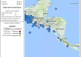 Conred alerta sobre sismo que fue sensible en varios departamentos del país. (Foto Prensa Libre: Conred)