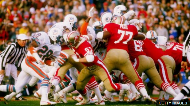 San Francisco le ganó a Miami en el Super Bowl XIX.