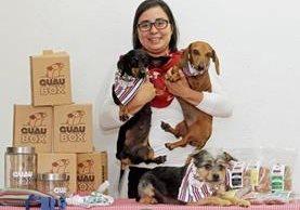 Alejandra Maldonado ha desarrollado más de 40 productos de repostería canina. (Foto Prensa Libre: Álvaro Interiano)