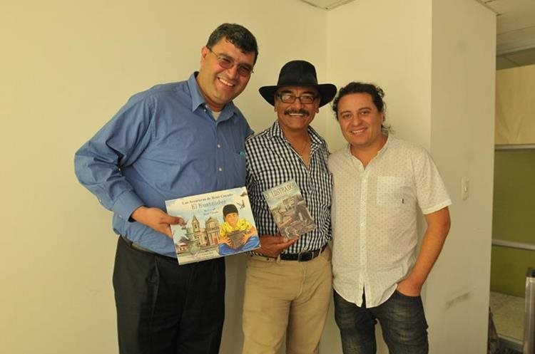 Jorge Muralles, René Corado y Eduardo Juárez. (Foto Prensa Libre: Ana Lucía Ola)