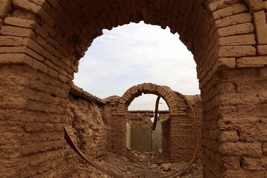 Se puede apreciar la destrucción que ha provocado Isis en los últimos meses. (Foto Prensa Libre: AFP)
