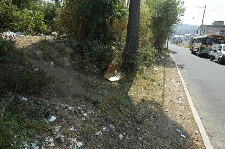 Las cámaras estarían en los lugares que han servido como botaderos de basura.(Prensa Libre: Hemeroteca PL)