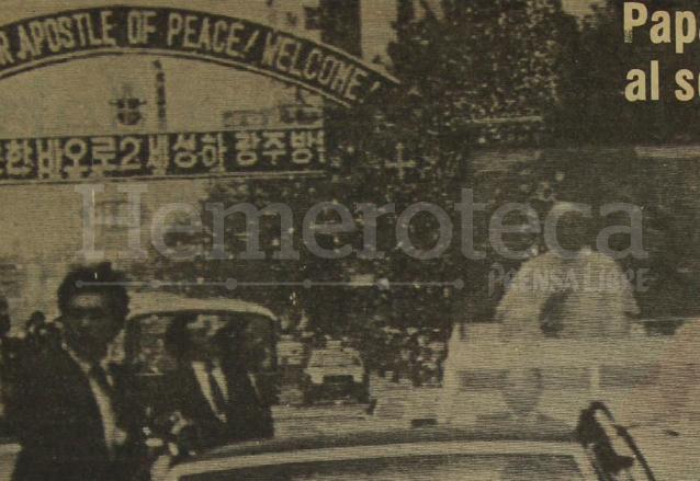 Juan Pablo II visitó Corea del Sur bajo estrictas medidas de seguridad y una cálida bienvenida en mayo de 1984. (Foto: Hemeroteca PL)