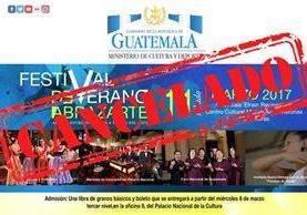 Ministerio de Cultura y Deportes cancela varias actividades culturales por luto nacional, como conciertos y festivales.