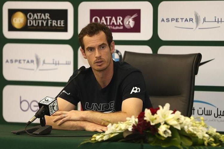 Andy Murray ofreció una conferencia de prensa previo al abierto de Doha. (Foto Prensa Libre: AFP)