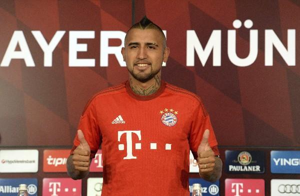 Arturo Vidal será presentado este martes con el Bayern Múnich. (Foto Prensa Libre: AFP)