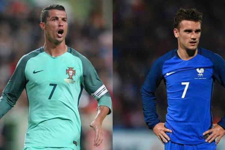 Cristiano Ronaldo y Antoine Griezmann volverán a ser rivales, ahora en la Eurocopa. (Foto Prensa Libre)