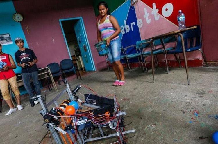 Los jóvenes del equipo de Nicaragua llegaron desde uno de los barrios más marginales de Managua. NTI OCON/AFP/GETTY IMAGES