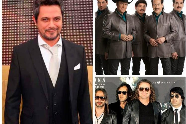 La música de Alejandro Sanz, Los Tigres del Norte y Maná estará presente en el escenario. (Foto Prensa Libre: Hemeroteca PL)
