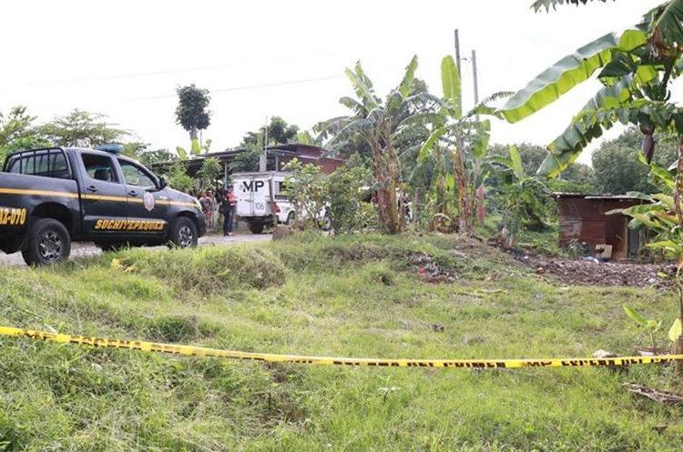 El sector Icán es considerado punto rojo en el municipio de Cuyotenango. (Foto Prensa Libre: Cristian Soto)