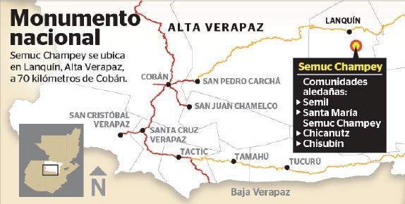 Semuc Champey es un sitio turístico ubicado en Lanquín, Alta Verapaz.
