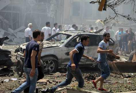 Explosiones en Trípoli, Líbano. (AFP).