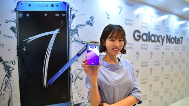 Galaxy Note 7 es el teléfono más moderno de Samsung. (AFP).