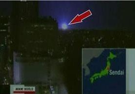 Tras el terremoto de Fukushima se observaron extraños globos de luz.