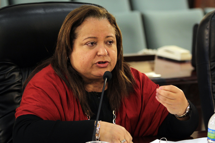 Melba Acosta, presidenta del Banco Gubernamental de Fomento.