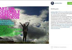 Aporte de @Prensa_libre en Instagram antes de las elecciones.