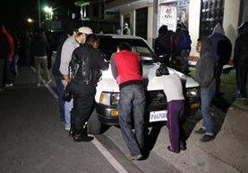 El vehículo que había sido robado en aldea el Rincón, San Marcos, fue devuelto a su propietario. (Foto Prensa Libre: Whitmer Barrera)