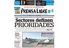 Portada de Prensa Libre del 01/11/2015, avión ruso se estrella en desierto del Sinaí, con cauda de 224 muertos. (Foto: Hemeroteca PL)